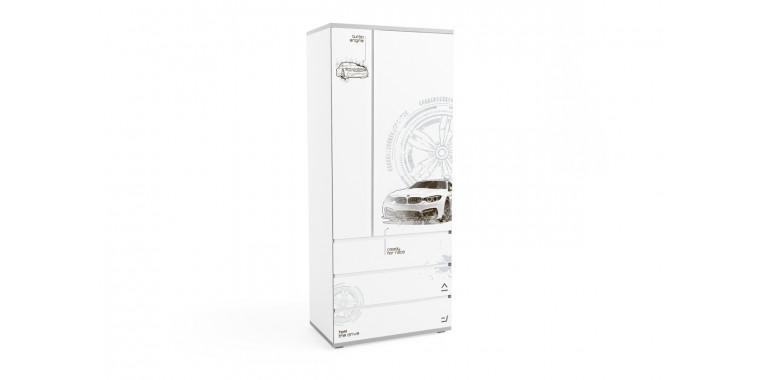 Шкаф Q-bix 33 БМВ белый