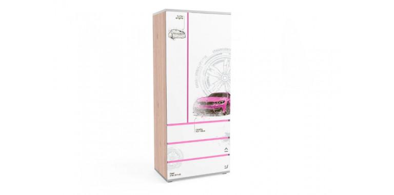 Шкаф Q-bix 33 БМВ розовый под дерево