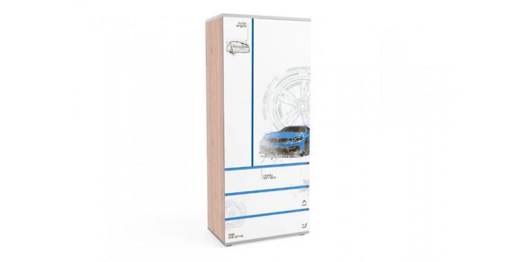 Шкаф Q-bix 33 БМВ синий под дерево