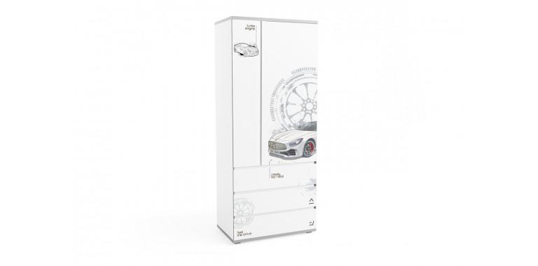 Шкаф Q-bix 33 Мерседес белый