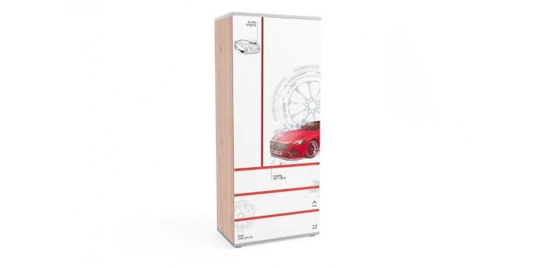 Шкаф Q-bix 33 Мерседес красный под дерево