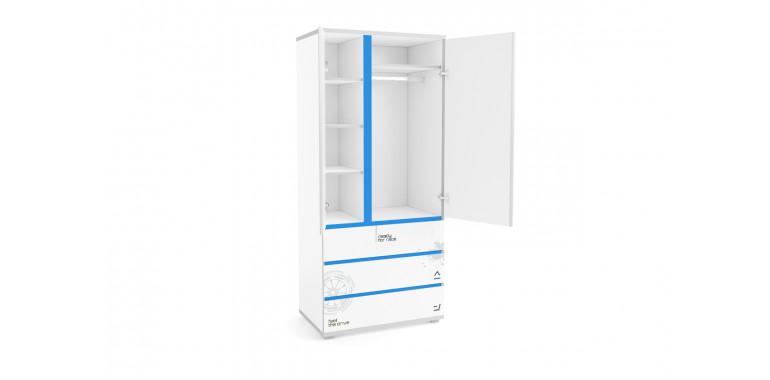 Шкаф Q-bix 33 Мерседес синий