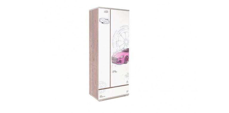 Шкаф Q-bix 31 Мерседес розовый под дерево