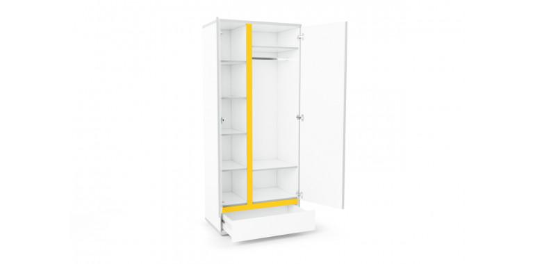 Шкаф Q-bix 31 Мерседес желтый