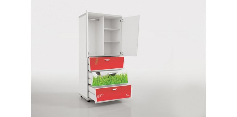 Шкаф Z5 Футбол красный