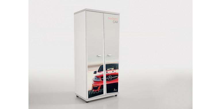 Шкаф Z6 Авто Декор 1 Мерседес красный