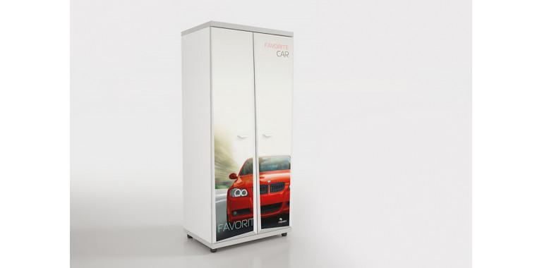 Шкаф Z8 Авто Декор 1 БМВ красный