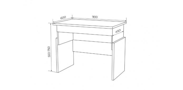 Растущий стол Q-bix 01 черный