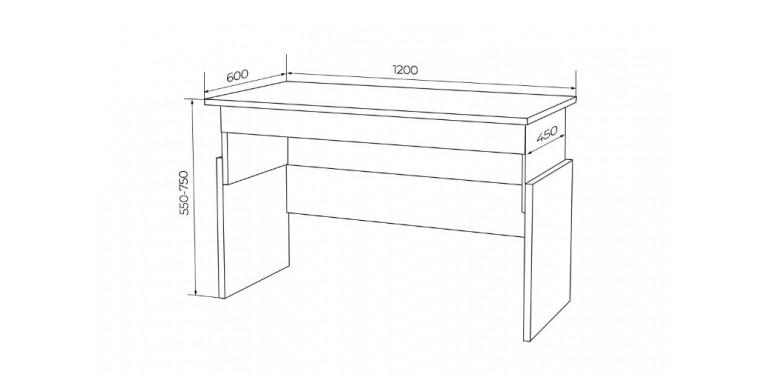 Растущий стол Q-bix 02 желтый