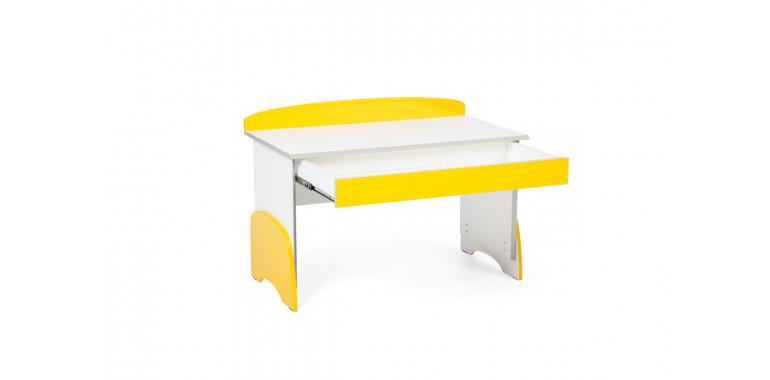Растущий стол U-nix желтый