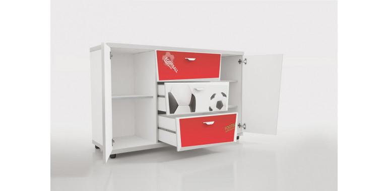 Комод Z4 Футбол красный