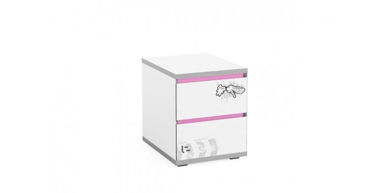 Тумба Q-bix 12 розовая