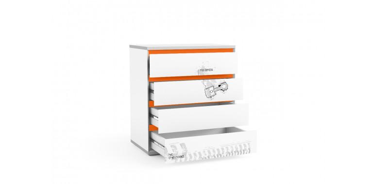Комод Q-bix 14 оранжевый