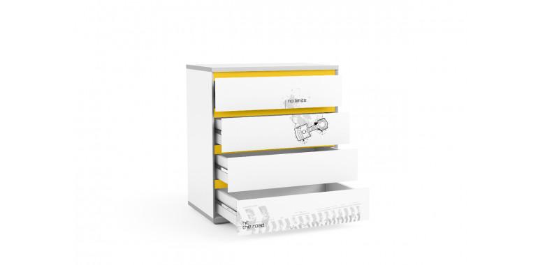 Комод Q-bix 14 желтый