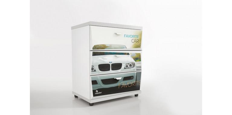 Комод Z1 Авто Декор 1 БМВ белый