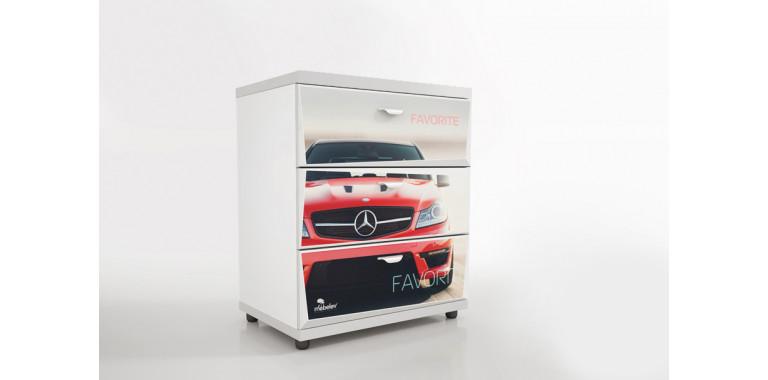 Комод Z1 Авто Декор 1 Мерседес красный