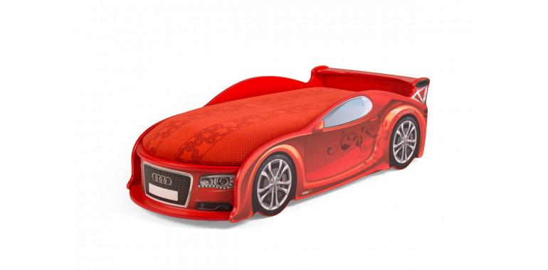 Детские кровать-машина «Ауди-А4» до 6 лет красная