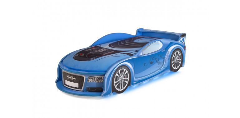 Детские кровать-машина «Ауди-А4» до 6 лет синяя