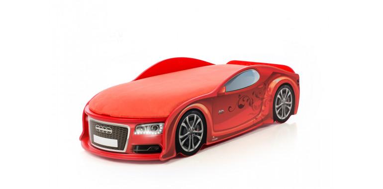Кровать-машина «Ауди-А6» красная