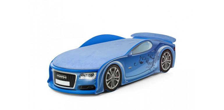 Кровать-машина «Ауди-А6» синяя