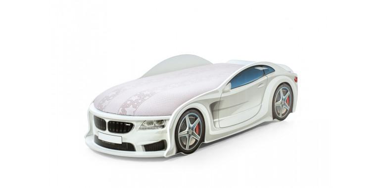 Кровать-машина «БМВ-М» белая