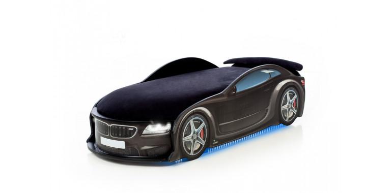 Кровать-машина «БМВ-М» черная