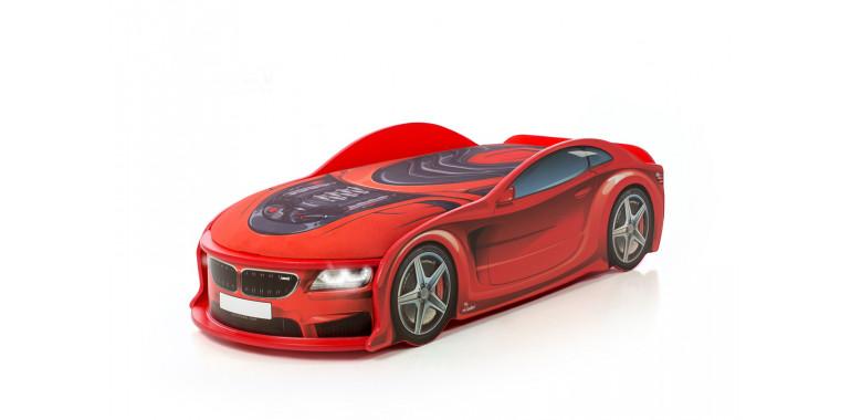 Кровать-машина «БМВ-М» красная