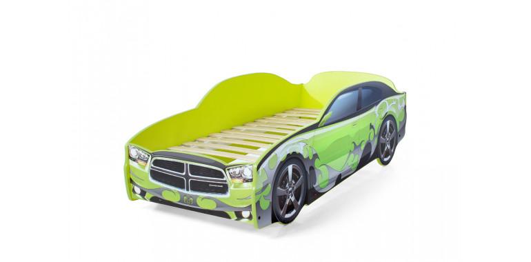 Кровать-машина «Додж» зеленая