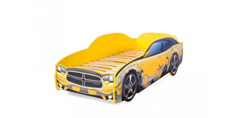 Кровать-машина «Додж» желтая