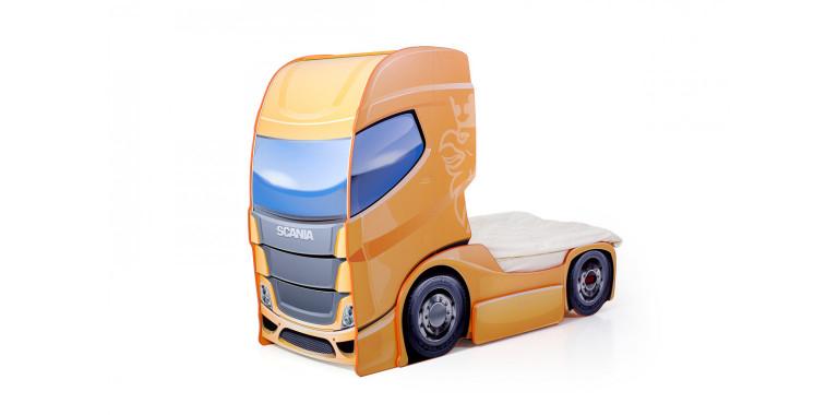 Кровать-грузовик «Скания+1» оранжевая