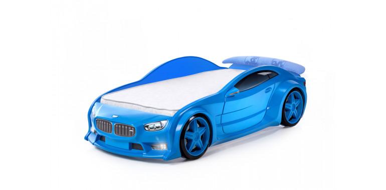 Кровать-машинка объемная EVO «БМВ» синяя