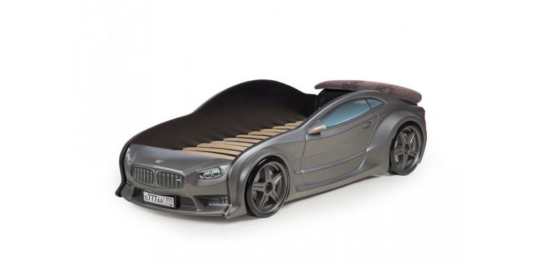 Кровать-машинка объемная EVO «БМВ» графит