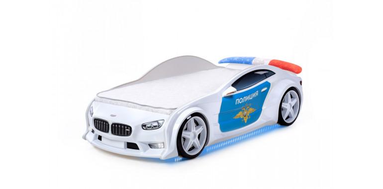 Кровать-машинка объемная EVO «БМВ» полиция