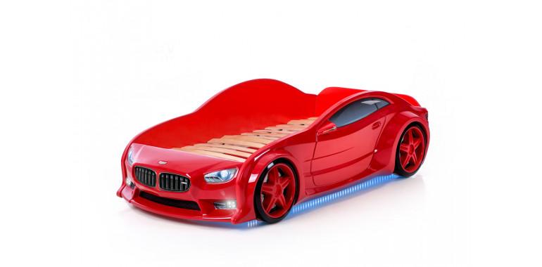 Кровать-машинка объемная EVO «БМВ» красная