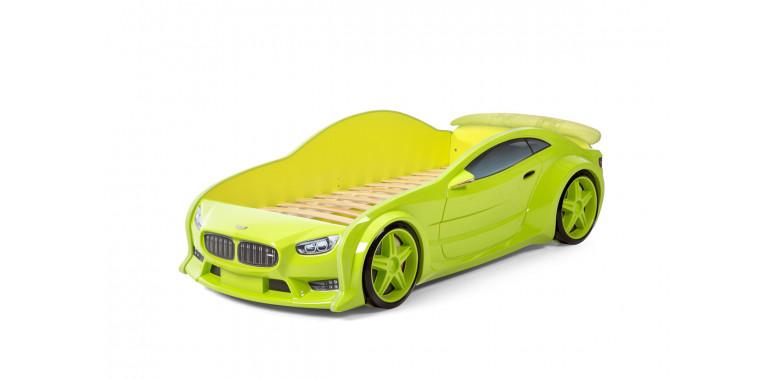 Кровать-машинка объемная EVO «БМВ» зеленая