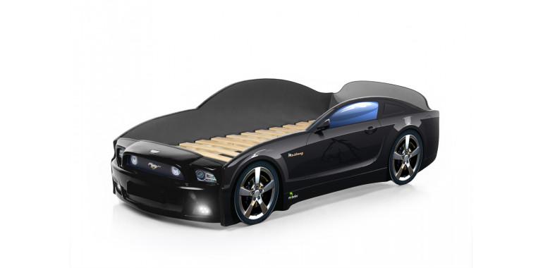 Кровать-машина «Мустанг» PLUS черная