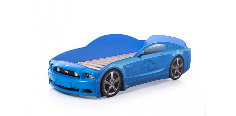 Кровать-машина «Мустанг» PLUS синяя