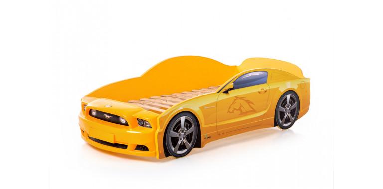 Кровать-машина «Мустанг» PLUS желтая