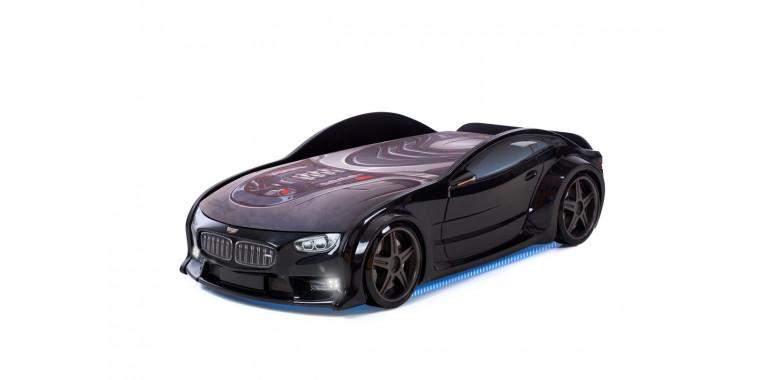 Кровать-машина объемная NEO «БМВ» черная