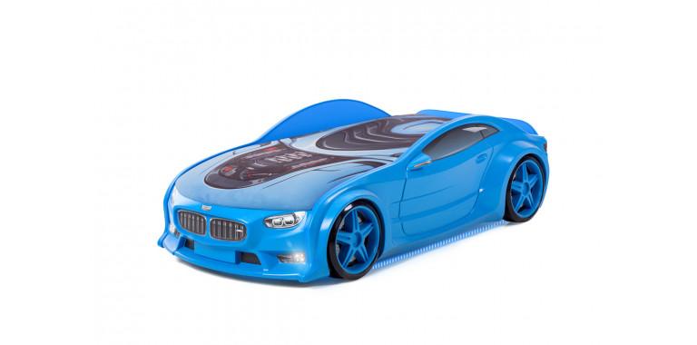 Кровать-машина объемная NEO «БМВ» синяя