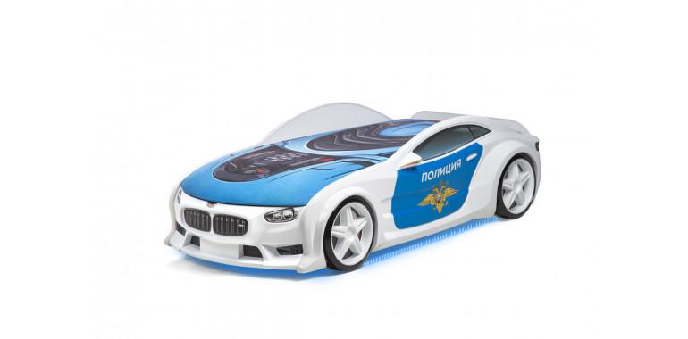 Кровать-машина объемная NEO «БМВ» полиция