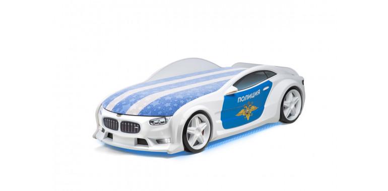 Кровать-машина объемная NEO полиция