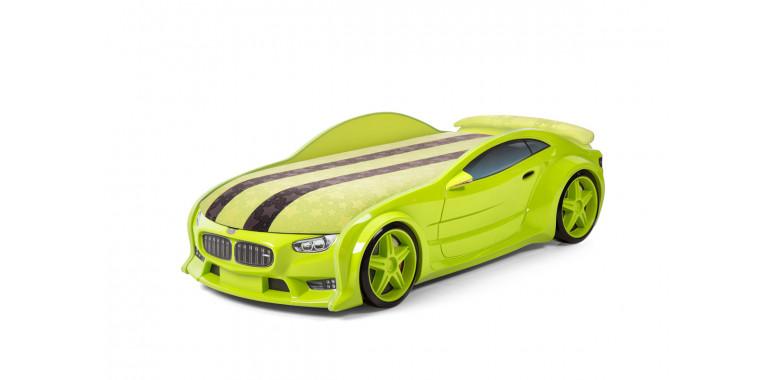 Кровать-машина объемная NEO зеленая