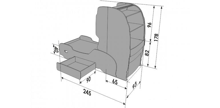 Кровать-грузовик «Скания+1» зеленая