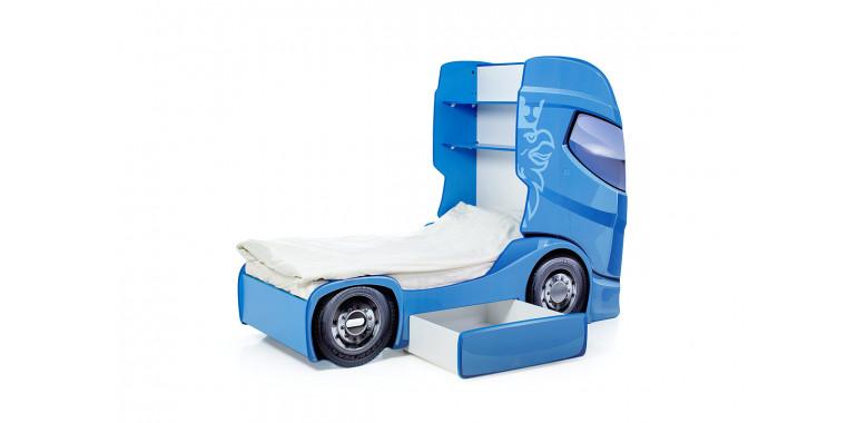 Кровать-грузовик «Скания+1» синяя