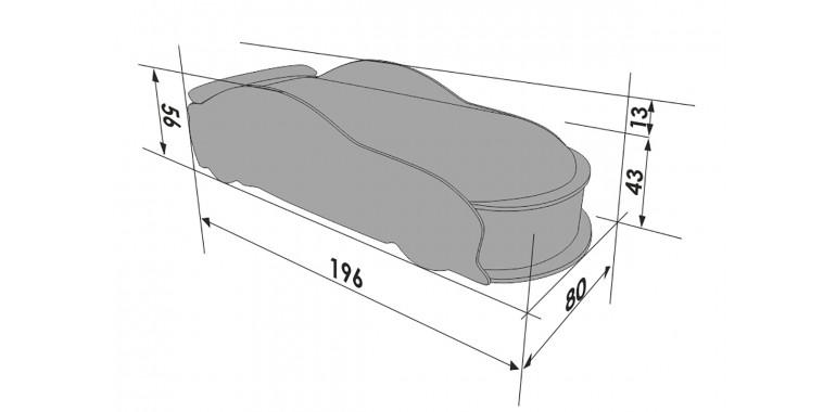 Кровать-машина «Мерседес-М» белая