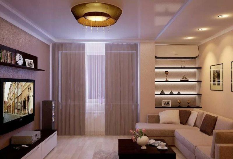 Особенности выбора мебели для прямоугольной гостиной