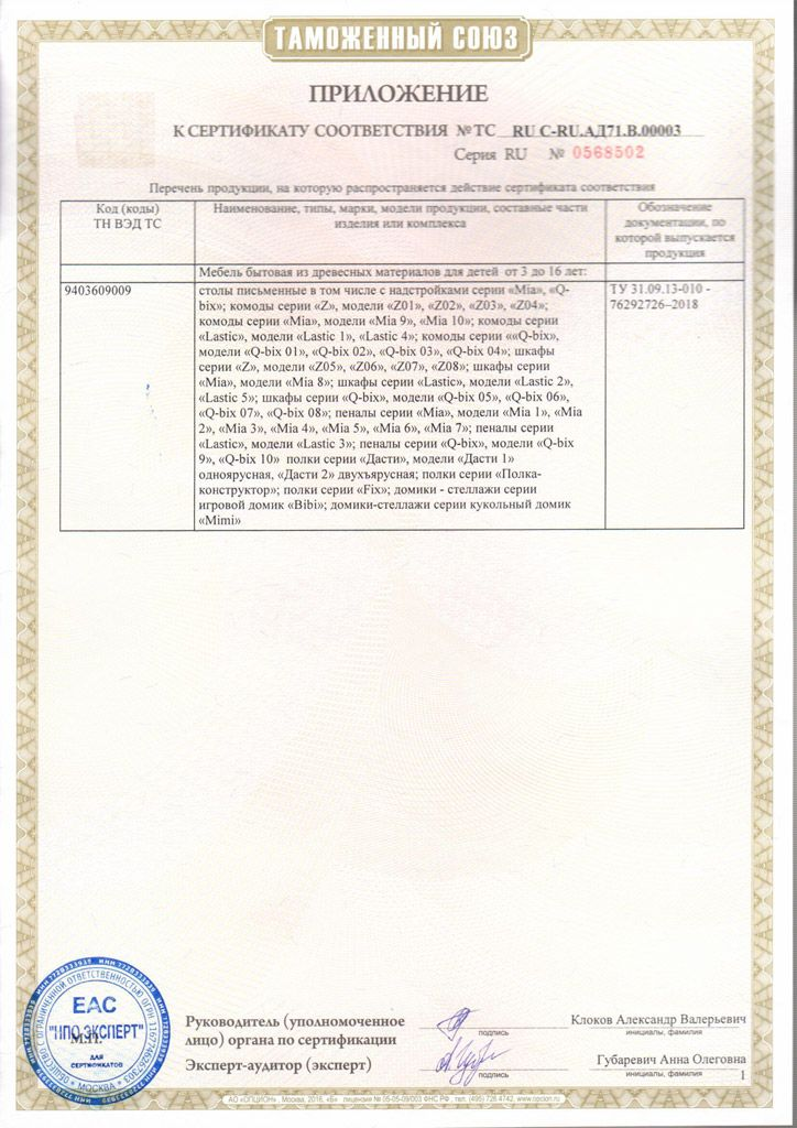 Сертификат на продукцию 29