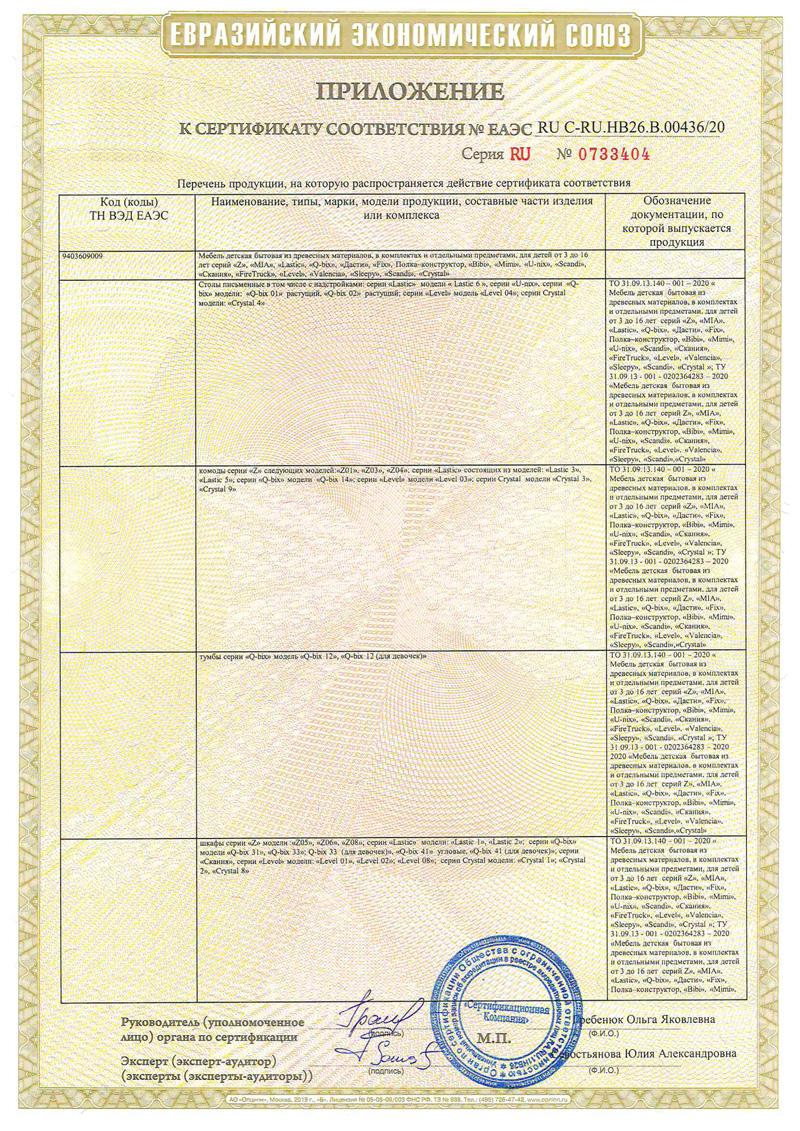 Сертификат на продукцию 5